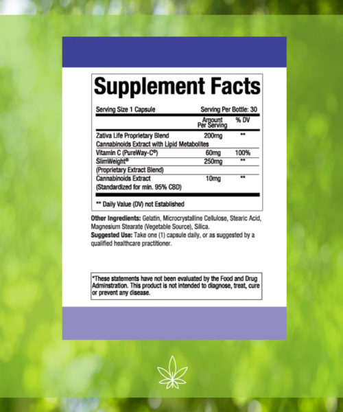 zativa-life-advanced-weight-loss-appetite-suppressant-300mg-CBD-Capsule-Supplement-Facts-label